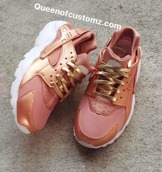 wholesale dealer 26cce 90f49 cheap nike huarache custom peach 6b8e6 5bd77