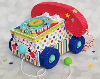 Doodlebug Design Telephone,Telephone Paper Craft, Telephone Centerpiece, Telephone Decor