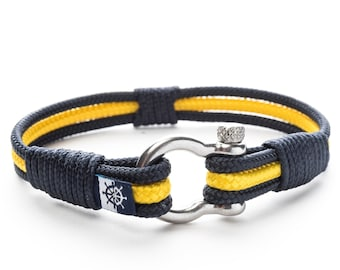 Men/'s Women/'s Jewelry Unisex Anchor Nautical Rope Marine Bracelet QUINN Groomsmen Gift Christmas Valentine/'s Day Mother/'s Day Father/'s Day