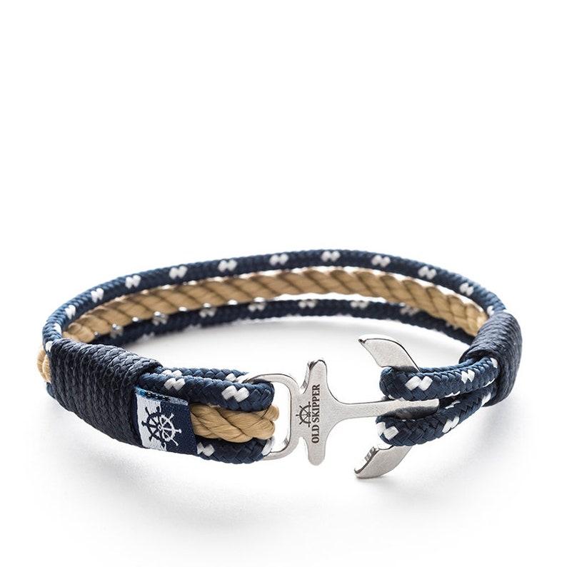 68f4af91 Anchor Rope Nautical Bracelet PETER PAN beige navy friendship | Etsy