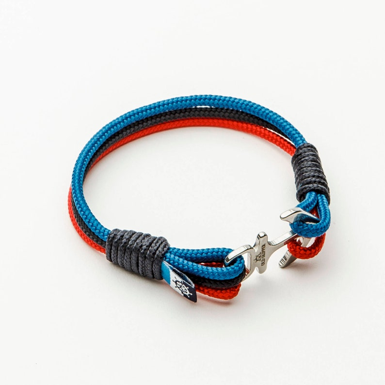 b77d3508059958 BMW serie anker Nautical touw armband voor mannen sieraden M   Etsy
