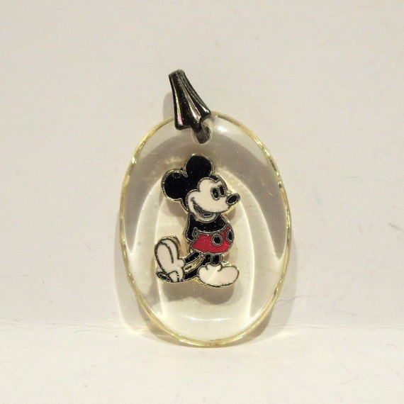 Clear acrylic Mickey Mouse inspired pendants
