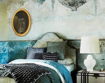 Painting - mask painting - mirror art wall - portait - surreal mask - artwork - creepy art - scary art - dorian gray - sad - gloomy - horror