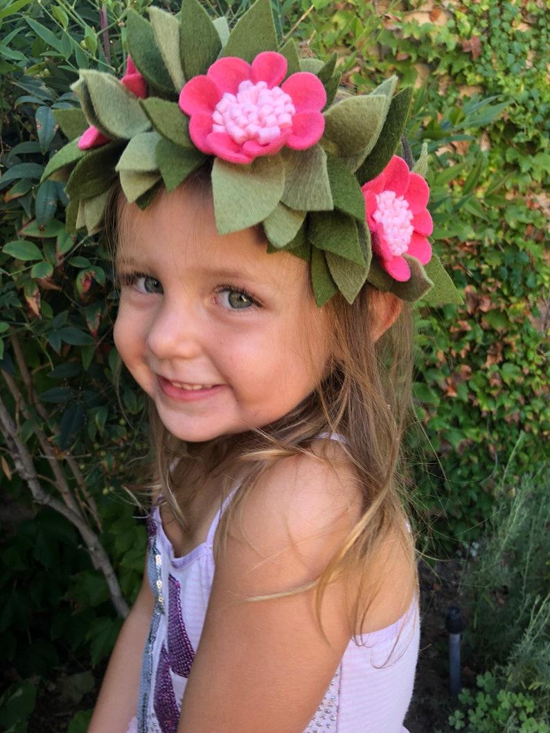 Moana crownMoana headbandHalloweenHawaiianHawaiian crownfloral crownfelt crownMoana costumeHawaiian headpiece