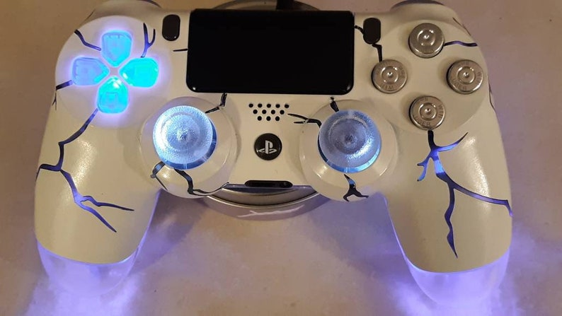 Playstation 4 PS4 Wireless Custom LED controller Backdrop BLUE• gift •  christmas gift • gaming • dualshock4 • video games
