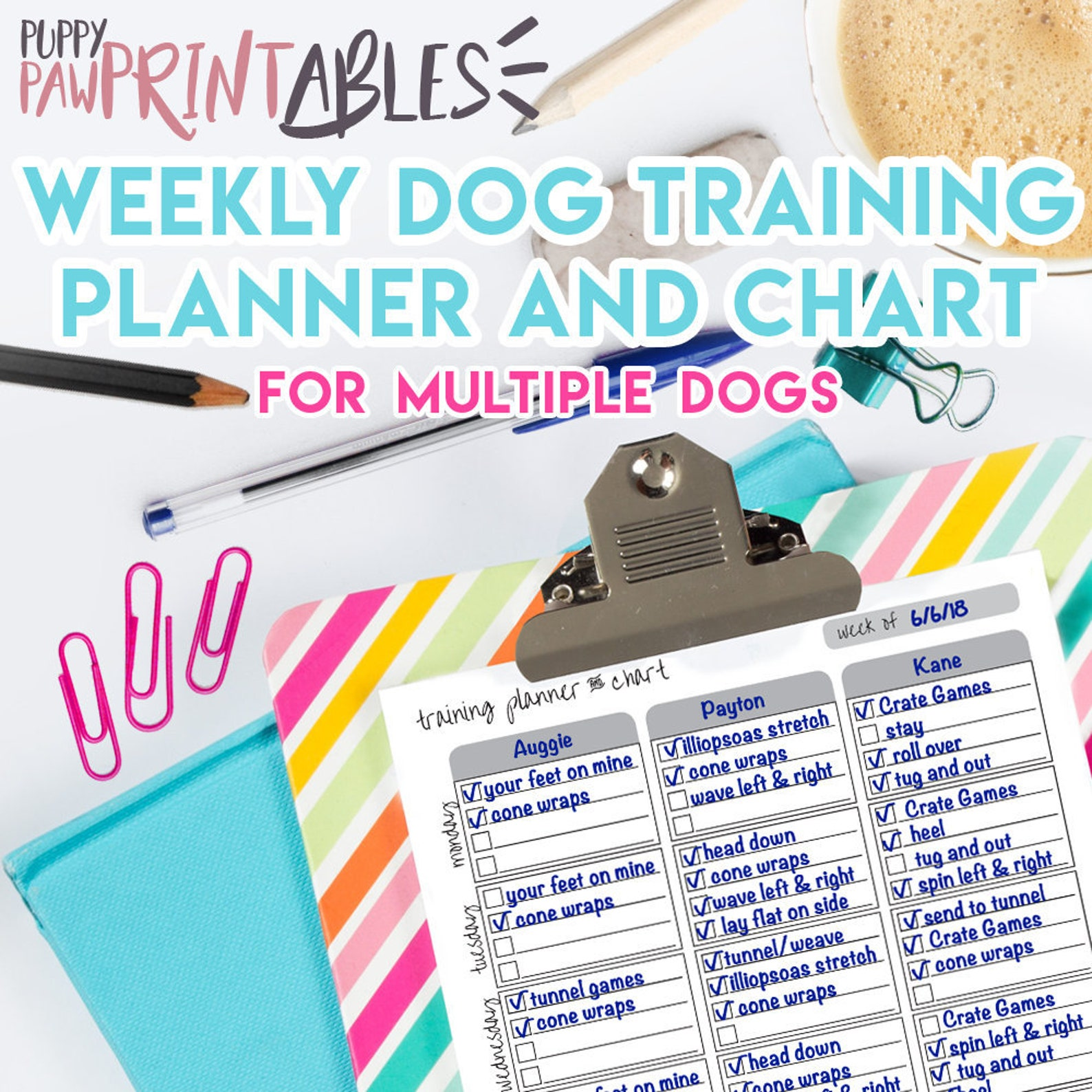 Printable Planner Dog Training
