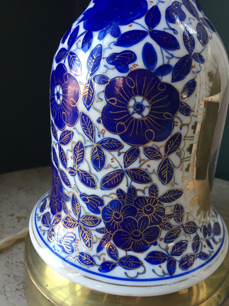 Antique Lamp Persian Russian King Hand-Painted