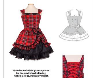 PDF L-3X Lolita Sewing Pattern: #1170 Little Betty JSK