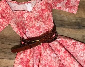 Girls Dress, circle Skirt, Dress with Pockets, Black Dress, Chambray Dress, Modest Girls Dress, sunday dress, floral dress, easter dress