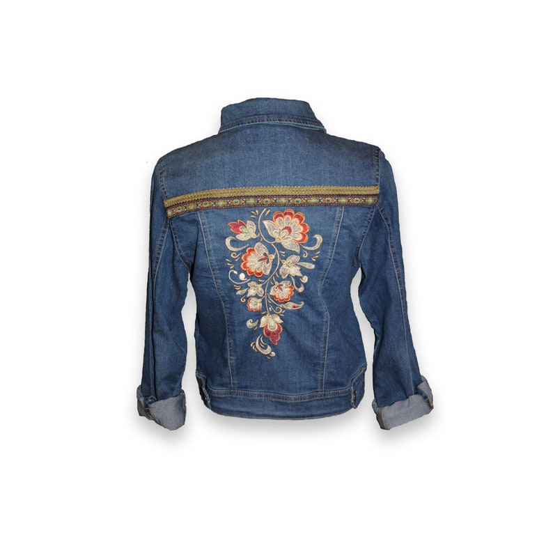 9c876ef769 Denim Jacket, Denim, Embroidered Denim Jacket, Embroidered denim, jacket,  Jean Jacket, Women's Jean Jacket, denim, jean, boho jacket