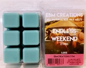 EBM Creations - Endless Weekend (Type) - Scented All Natural Soy Wax Melts - 6 Cube Clamshell 3.2oz