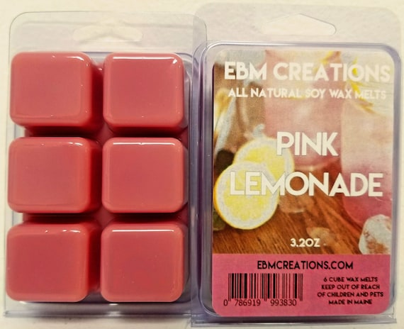Strawberry Lemon Ice 6 Cube Clamshell 3.2oz Highly Scented! Scented All Natural Soy Wax Melts