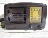 Bakelite Tube Radio Art Deco Emerson 1940 39 s Brown Bakelite Working Radio PreWar Black Brown with Handle Model 336 Working Vintage Radio