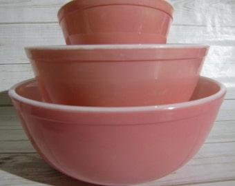 Pyrex mixing bowls   Etsy