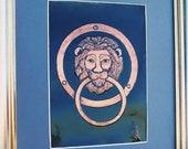 Lion Head, Löwe, Italy Wall Decor, Door Knocker, Door Decor, Turklopfer, Urban Home Decor, Paris Wall Art, Italy Lion metal art, Lion gift