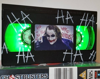 Joker etsy retro vhs lamp the joker batman with haha text night light table lamp horror movie order any movie great gift man cave halloween ccuart Image collections