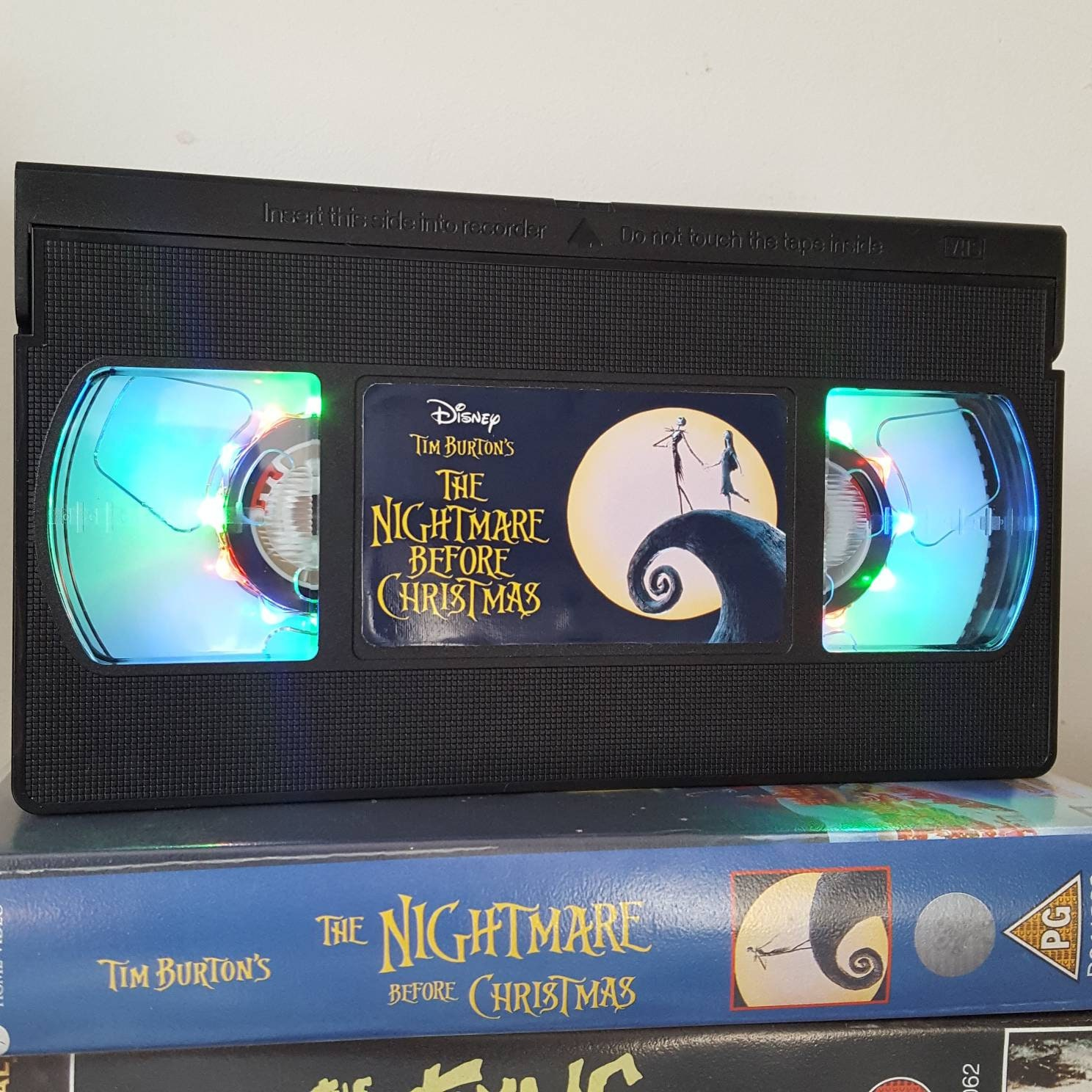 Retro-VHS Lampe Nightmare Before Christmas Nacht Licht | Etsy