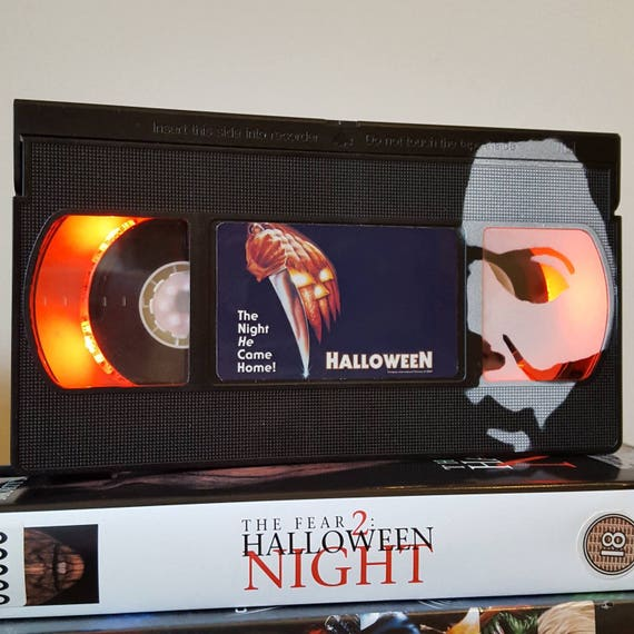 Retro VHS Lamp Pet Sematary with fur Stephen King Light Table Lamp Order any movie Cool Birthday Day Gift Man Cave Horror 80s Movie