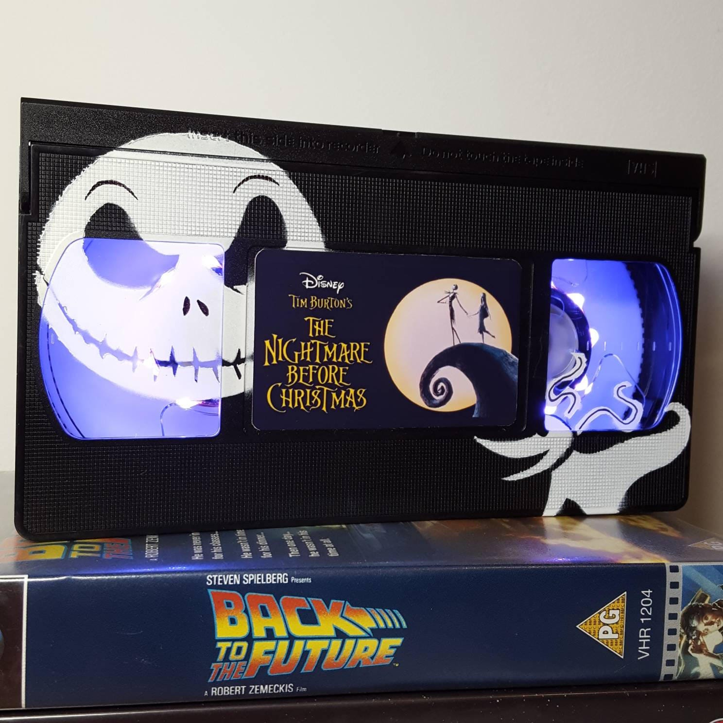 Retro VHS Lamp The Nightmare Before Christmas with Jack Art | Etsy