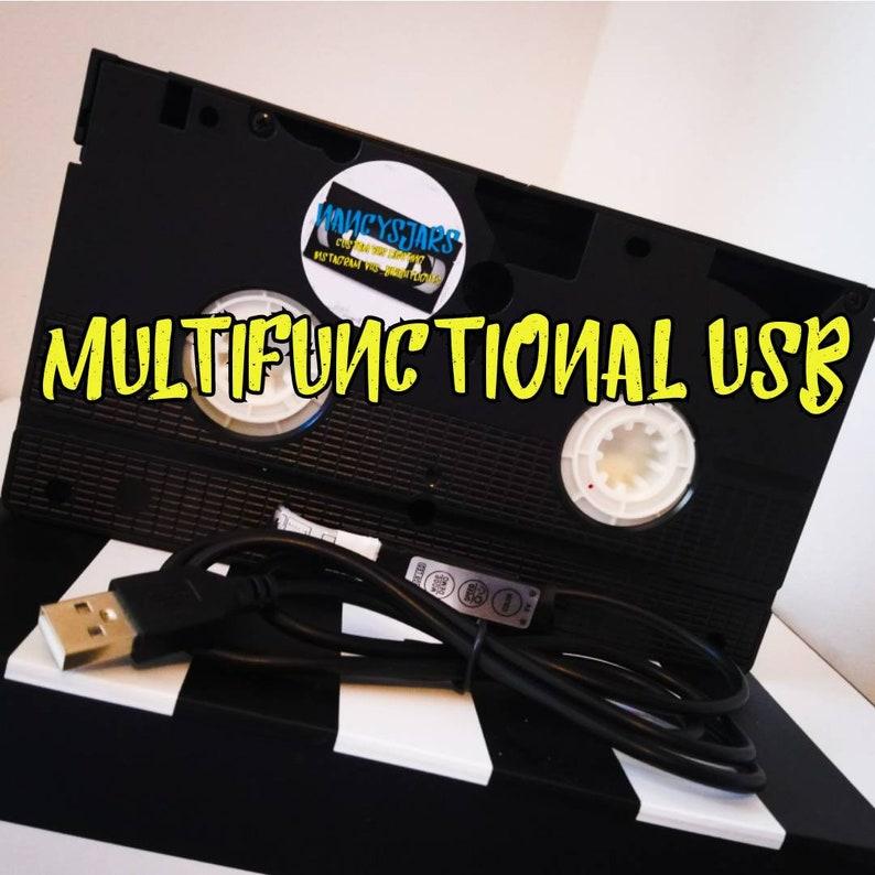 Horror 80s Movie Birthday Gift. Retro VHS Lamp The Addams Family Original Night Light Table Lamp Order any movie Man Cave