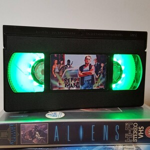 Awesome Birthday Gift Man Cave Bedroom Retro VHS Lamp American Psycho Horror Night Light Table Lamp Order any movie