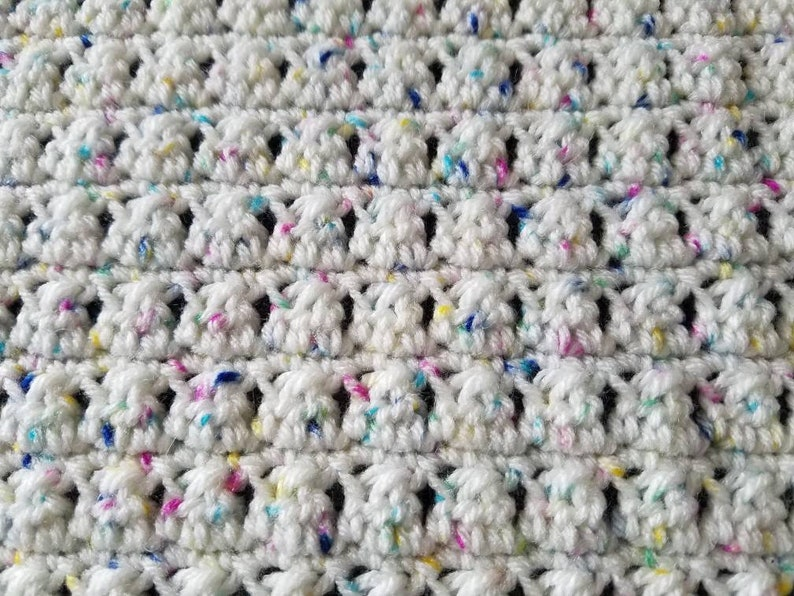 White Blue and Yellow Crochet Baby Blanket Pink Pet Blanket