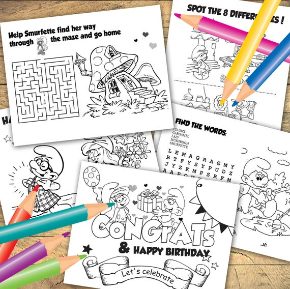 smurfs 2 coloring pages | Happy birthday coloring pages, Coloring books,  Birthday coloring pages | 568x570