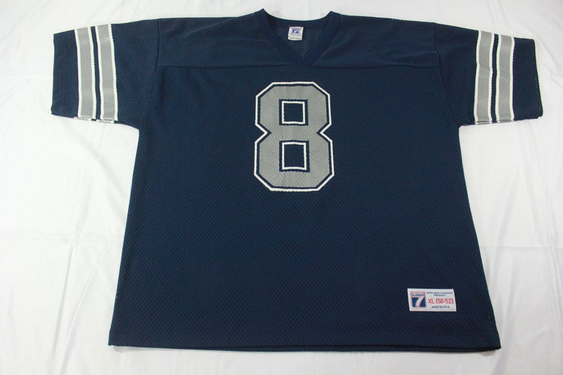 detailed look 877f8 5d543 Vintage Logo 7 Dallas Cowboys Troy Aikman Football Jersey Size XL