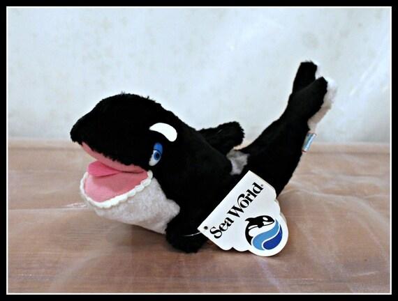 Sea World Shamu Bean Bag Plushie Shamu The Killer Whale Stuffed Animal Official Sea World Stuffed Toy Animal Black And White Plush Orca