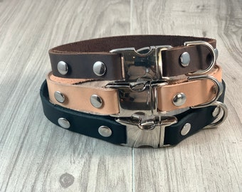 Leather Snap Collar