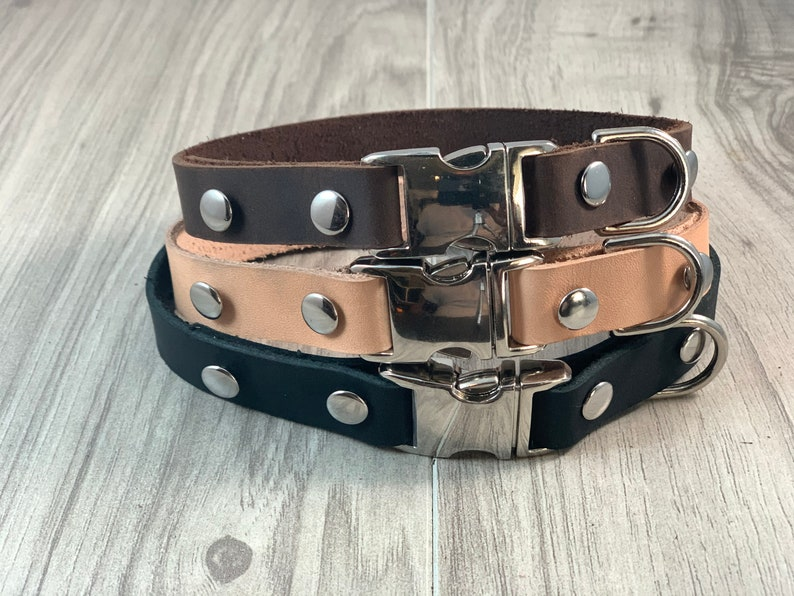 Leather Snap Collar image 1