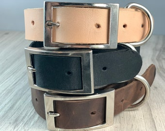 1 inch Light Weight Soft Leather Collar