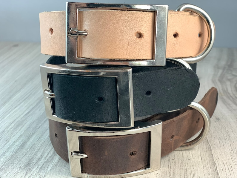 1 inch Light Weight Soft Leather Collar image 1