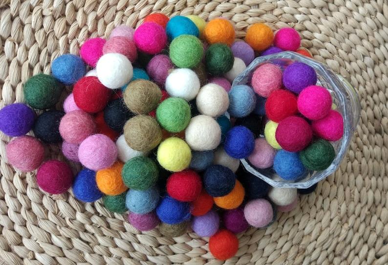 Wholesale Choose color Pom Pom 2cm Felt Balls Nursery Craft Beads Garland making