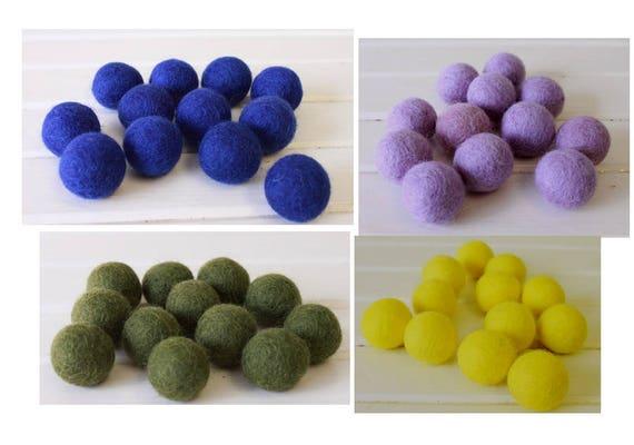 Bright Pom Pom Felt Balls Wool balls Nursery playmate kids Craft supplies
