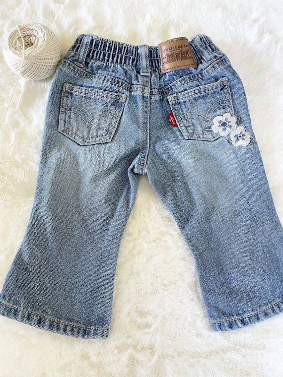 Vintage baby girl Levis, 12mo, baby girl jeans, Le