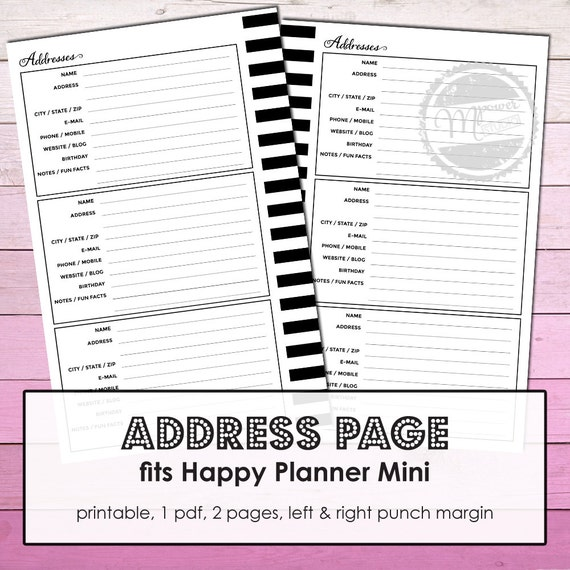picture about Printable Contact Paper identified as Mambi Mini Joyful Planner Printable Deal with site add, mini cover get hold of paper, deal with incorporate, pleased planner get in touch with increase