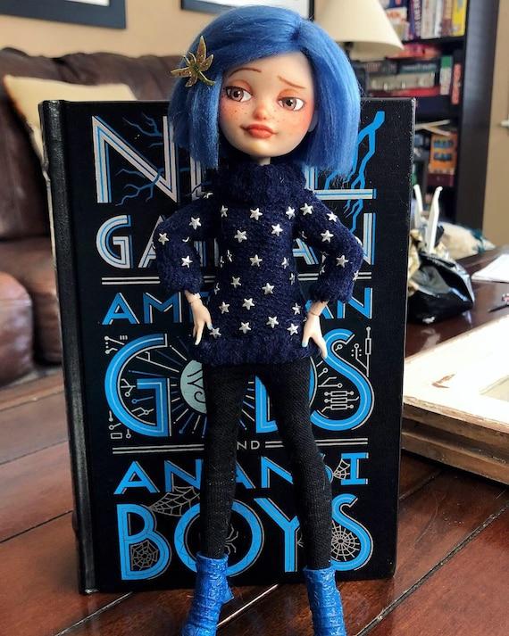 Ooak Coraline Doll Star Sweater Etsy