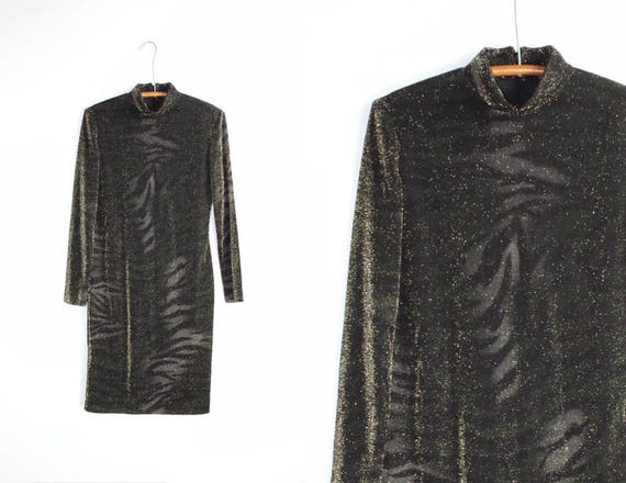 Vintage Cocktail Dress  90/'s Ellen Tracy Long Sleeve Midi  Party Dress Small