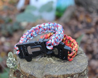 Beads Beads & Jewelry Making Paracord Bead Clip Antique Plating Metal Copper Button Outdoor Camping Survival Rope Paracord Survival Bracelets Buckle Adjust
