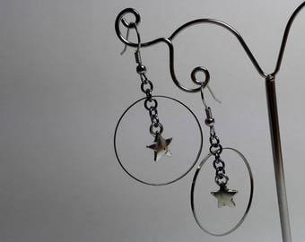 Earrings Star in a Ring