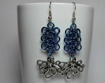 Earrings with Kraken