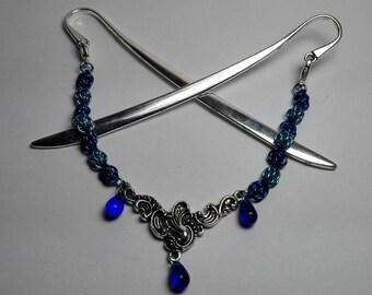 Hair Jewelery Blue Drops