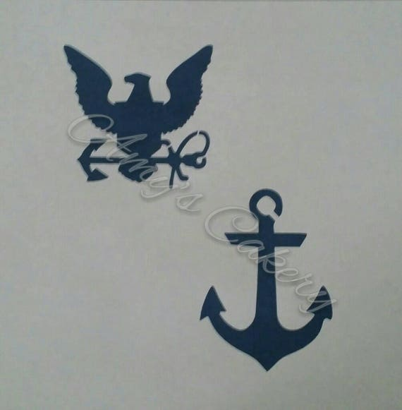 Navy Anchor Eagle Stencil Etsy