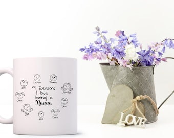 Personalised Mug Mothers Day, for Grandmother/Mother Birthday