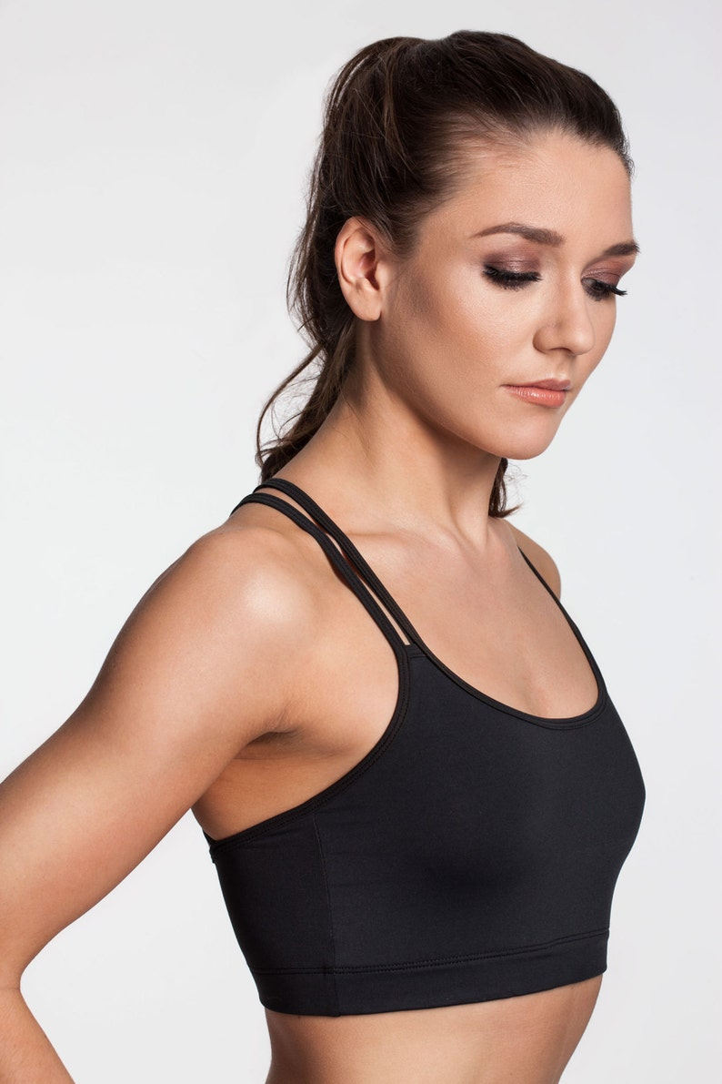 85d73354cb9 Yoga Sports Bra Strappy Yoga Bralette Workout Bra Running Bra