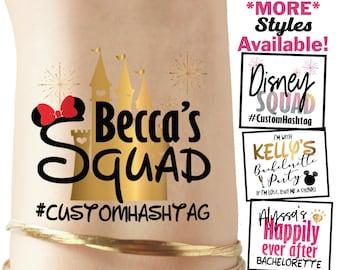 0ba68284f Set of Disney inspired bachelorette party tattoos, disney bachelorette,  disney squad, bride squad, bachelorette tattoo, minnie mickey mouse