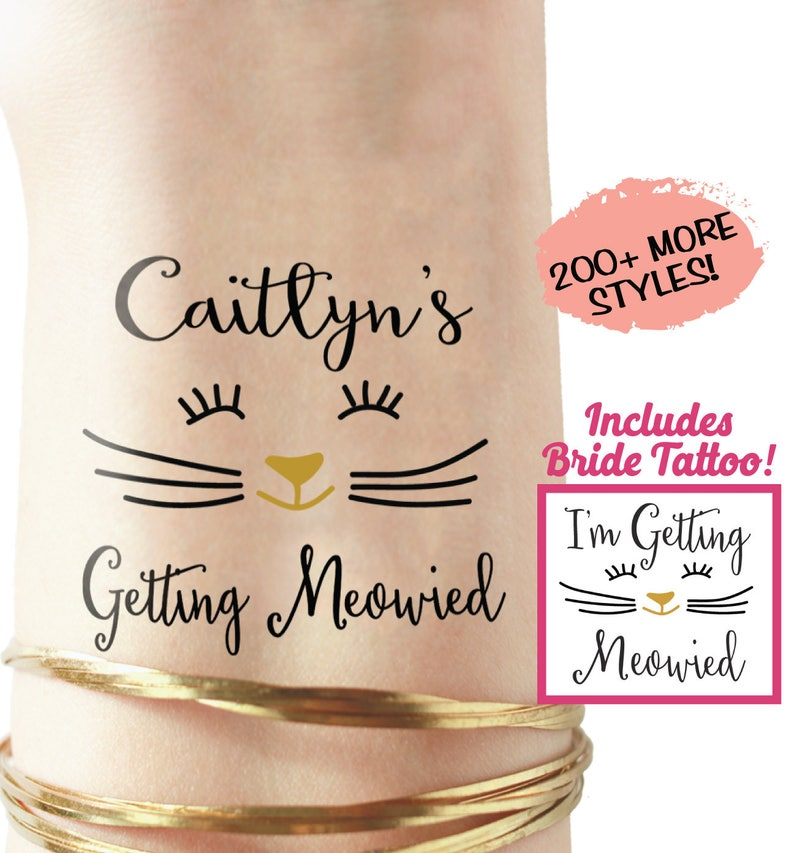 Set Of Personalized Getting Meowied Last Meow Bachelorette Etsy