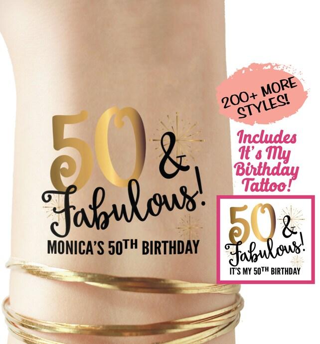 50th Birthday Tattoos Shirt Her Gift Anniversary For