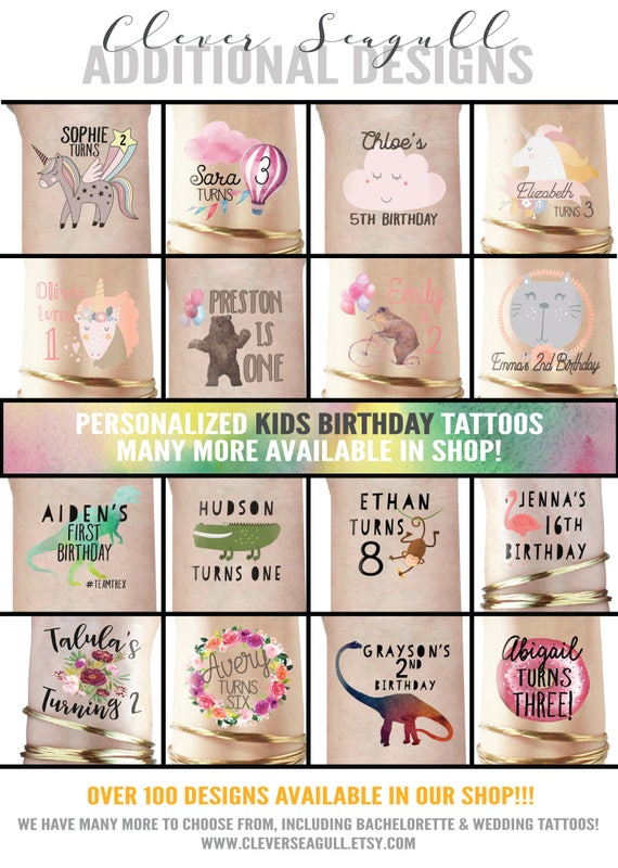 Childs Birthday Tattoos